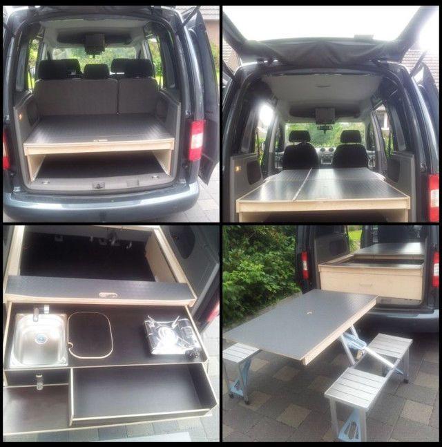 VW Caddy\/Camping\/Bett\/(optional Tisch \/Küche gegen Aufpreis) in - ebay küchen kaufen