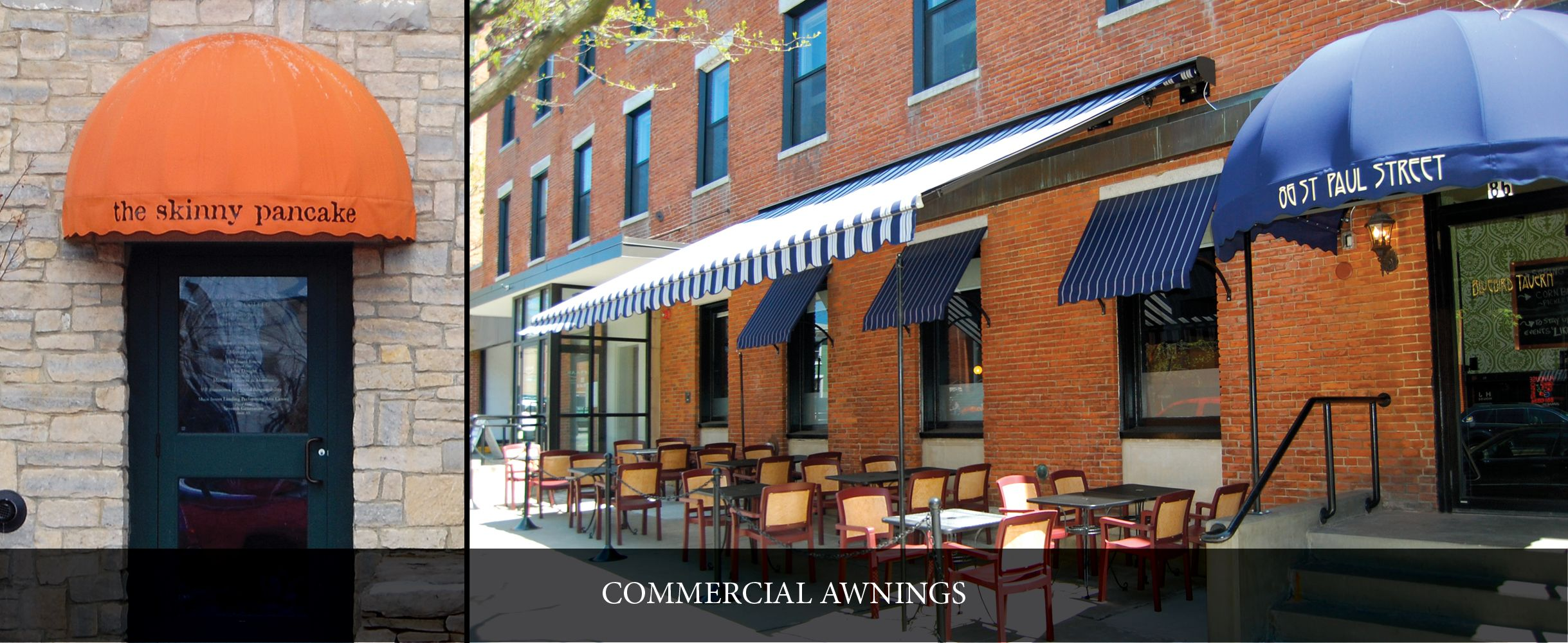 We May Be Biased Based On Their Awnings But We Think Skinny Pancake And Bluebird Tavern In Burlington Have Especially At Shade Umbrellas Outdoor Dining Awning