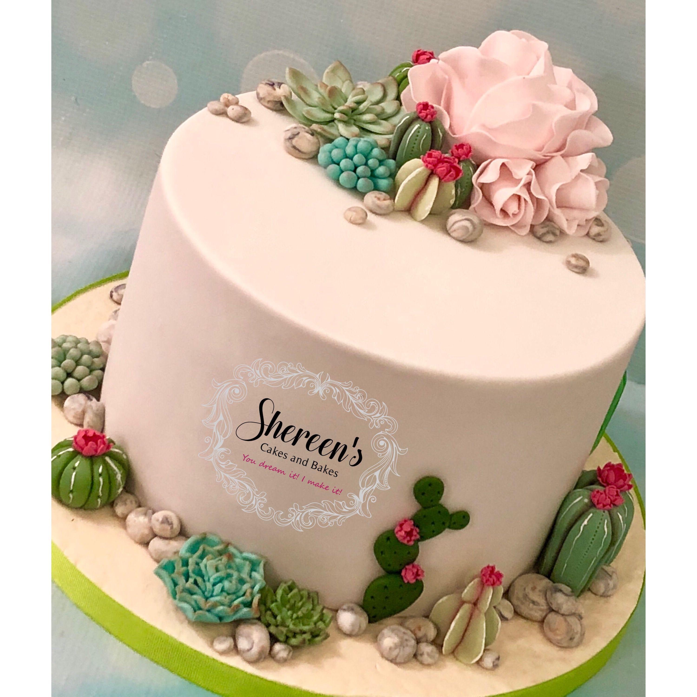 Cactus cacti birthday cake and cupcakes with flowers and roses all cactus cacti birthday cake and cupcakes with flowers and roses all handmade with fondant modelling paste izmirmasajfo