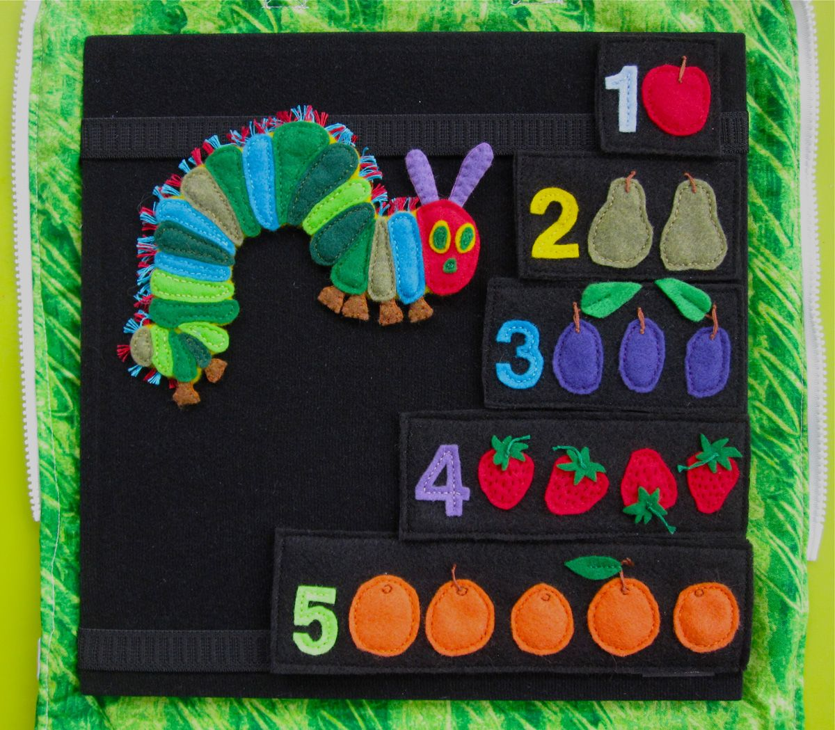 Books on felt crafts - Imagine Our Life Very Hungry Caterpillar Quiet Book Page