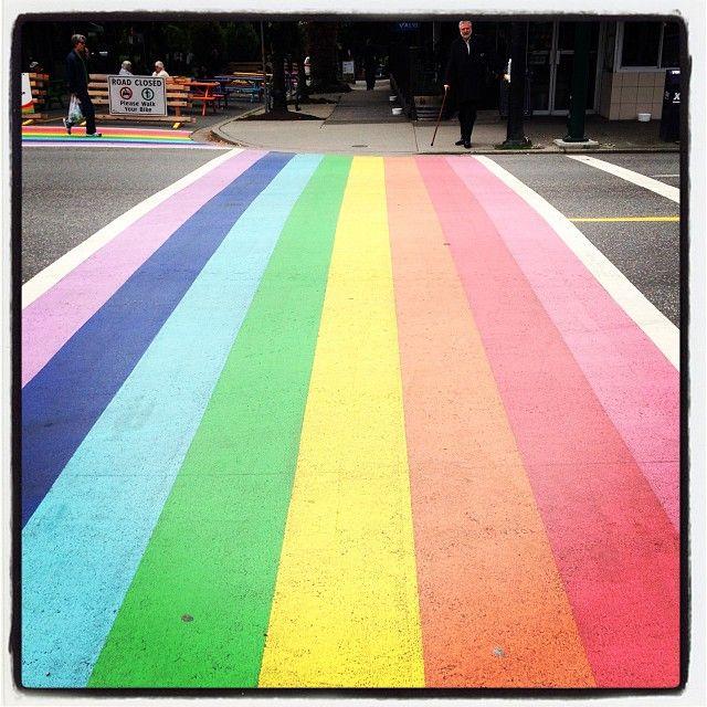 Rainbow Crosswalk in Vancouver, BC