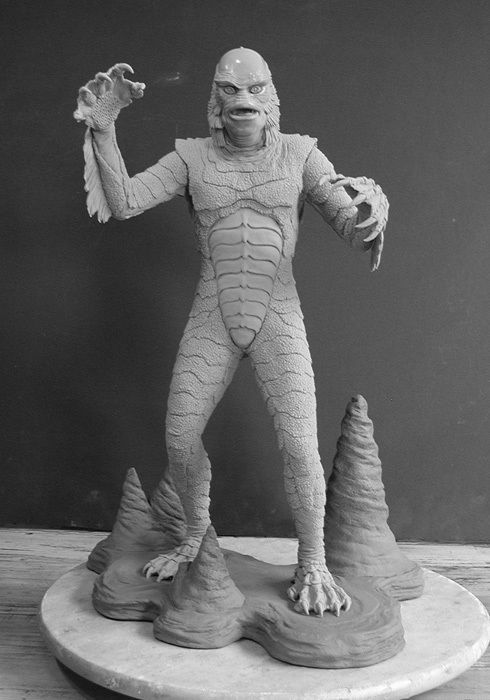 """Monster """"the Creature"""" 1/4 Scale Resin Kit 20"""" Tall W/base"""