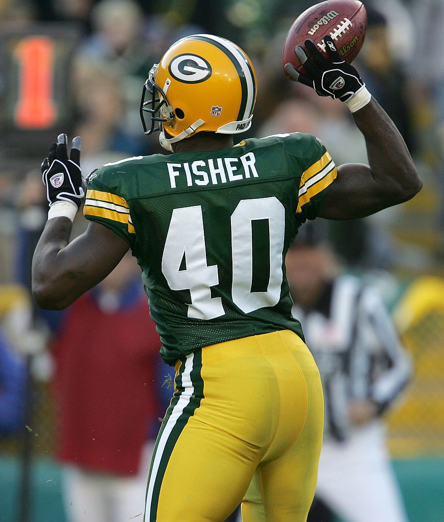 Tony Fisher Of The Green Bay Packers Throws A Touchdown Pass On A Packers Green Bay Green Bay Packers
