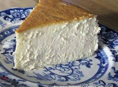 The Best New York Cheesecake (did you notice? there is no crust!! :D) Recipe   Just A Pinch Recipes