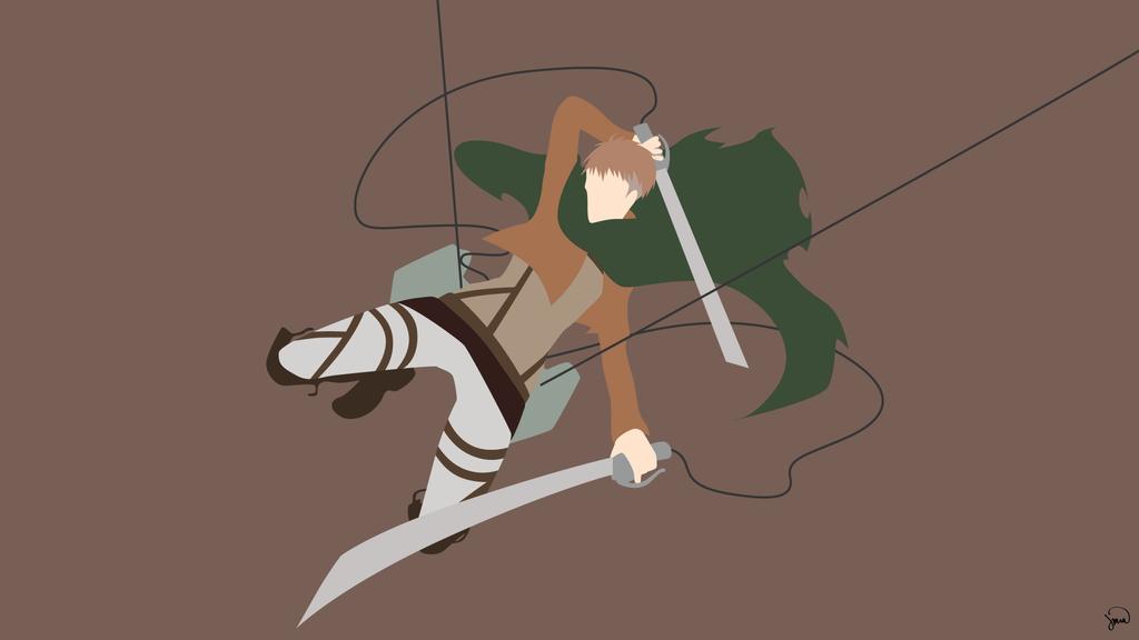 Jean Kirschtein Shingeki No Kyojin Minimalism Anime Jean Kirschtein Anime Wallpaper