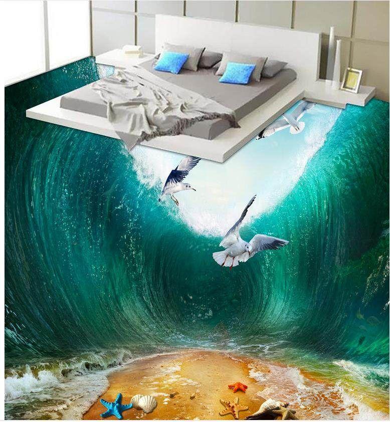 3d Stereoscopic Wallpaper Floor Beach Bathroom Bedroom 3d Floor Pvc Waterproof Floor Home Decoration Epoxy Floor Epoxy Floor 3d 3d Flooring