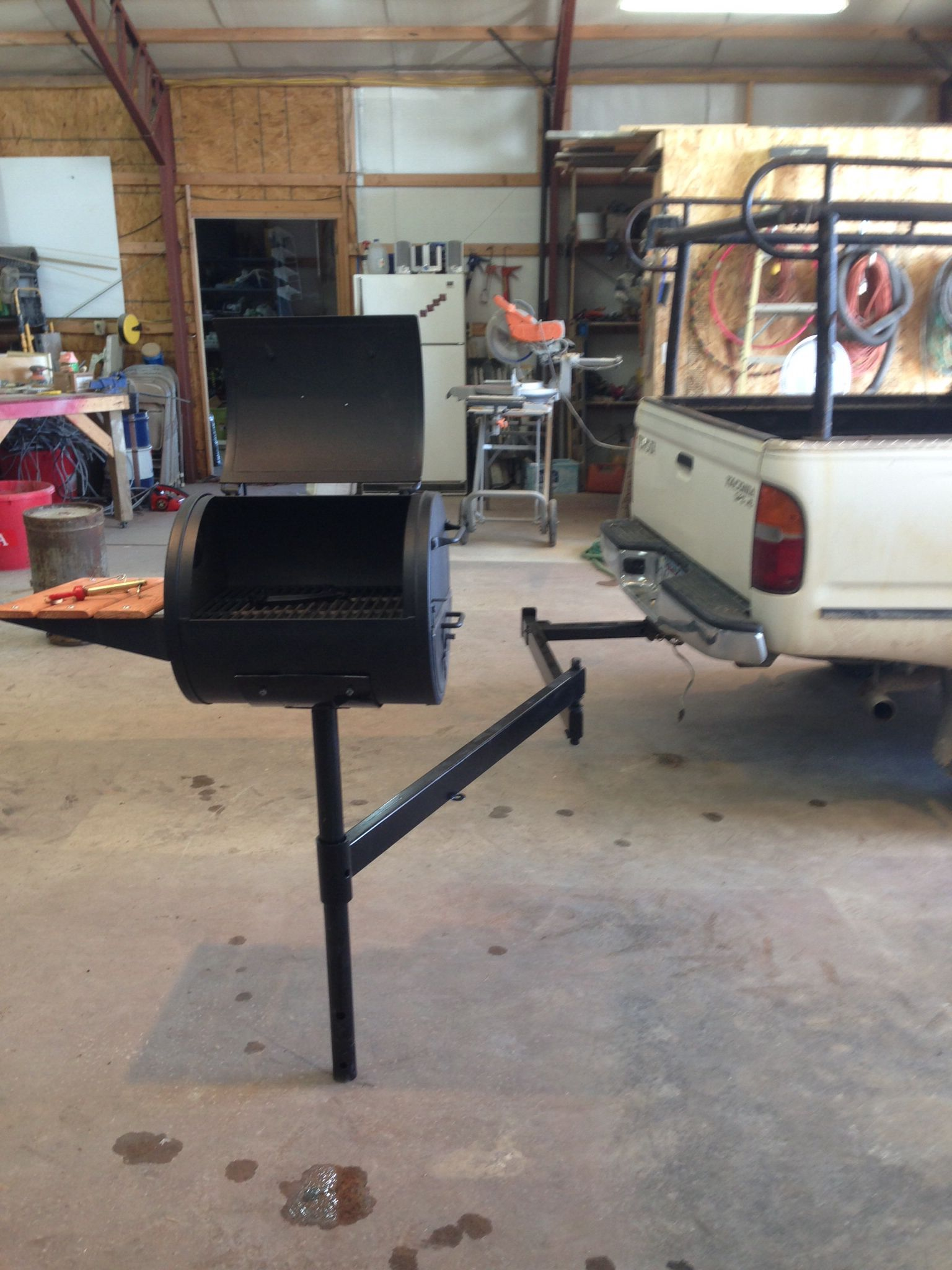 Our DIY Camper hitch grill Got 1 more to make