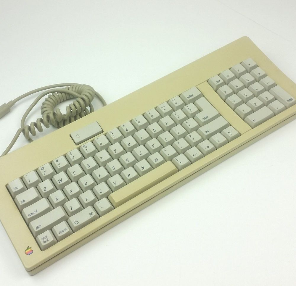 Vintage Apple Keyboard M0116 Mechanical Clicky Switches Computer Usa Qwerty Apple Apple Keyboard Vintage Apple Keyboard