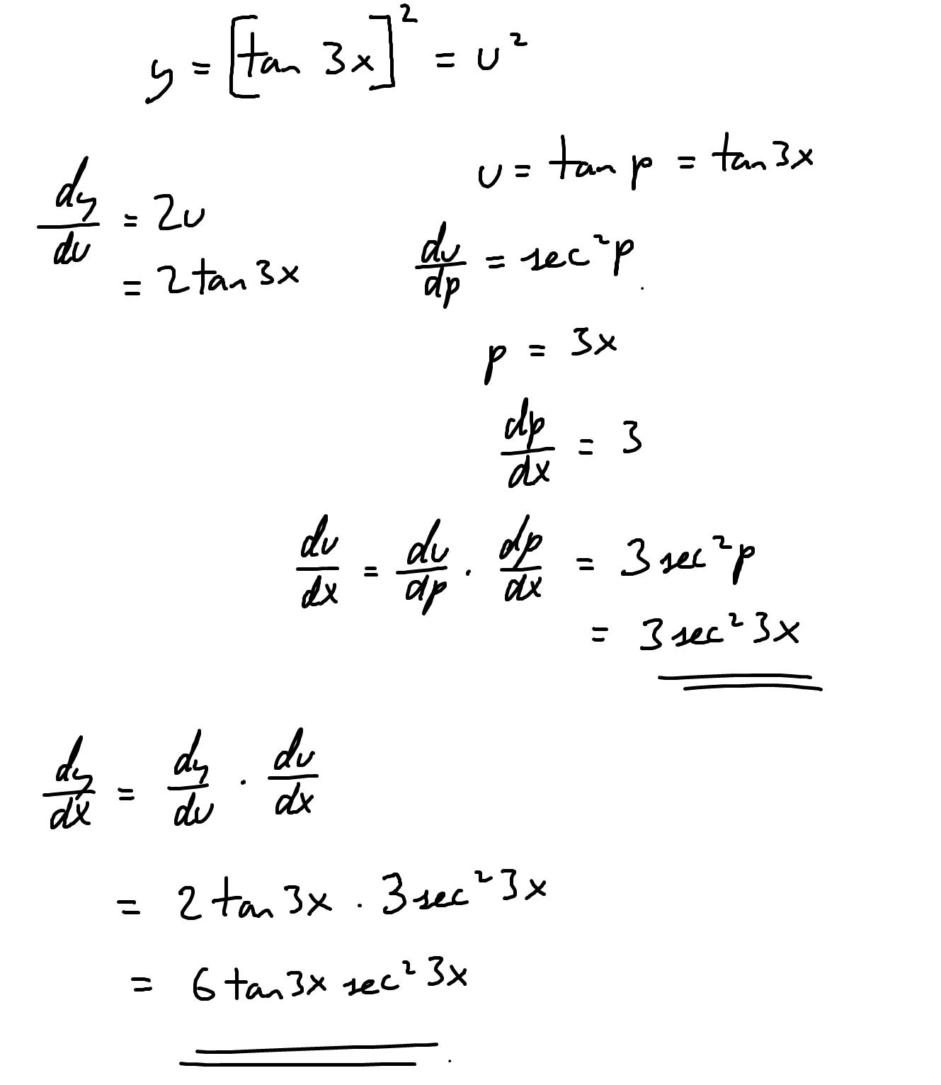 Tan3x 2 Derivative
