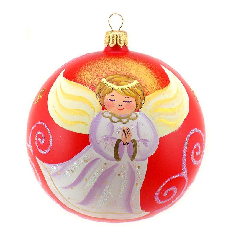 Christbaumkugeln Tschechien.Glob Din Sticla Cu Ingeras Christmas Glass Balls Glass Christmas