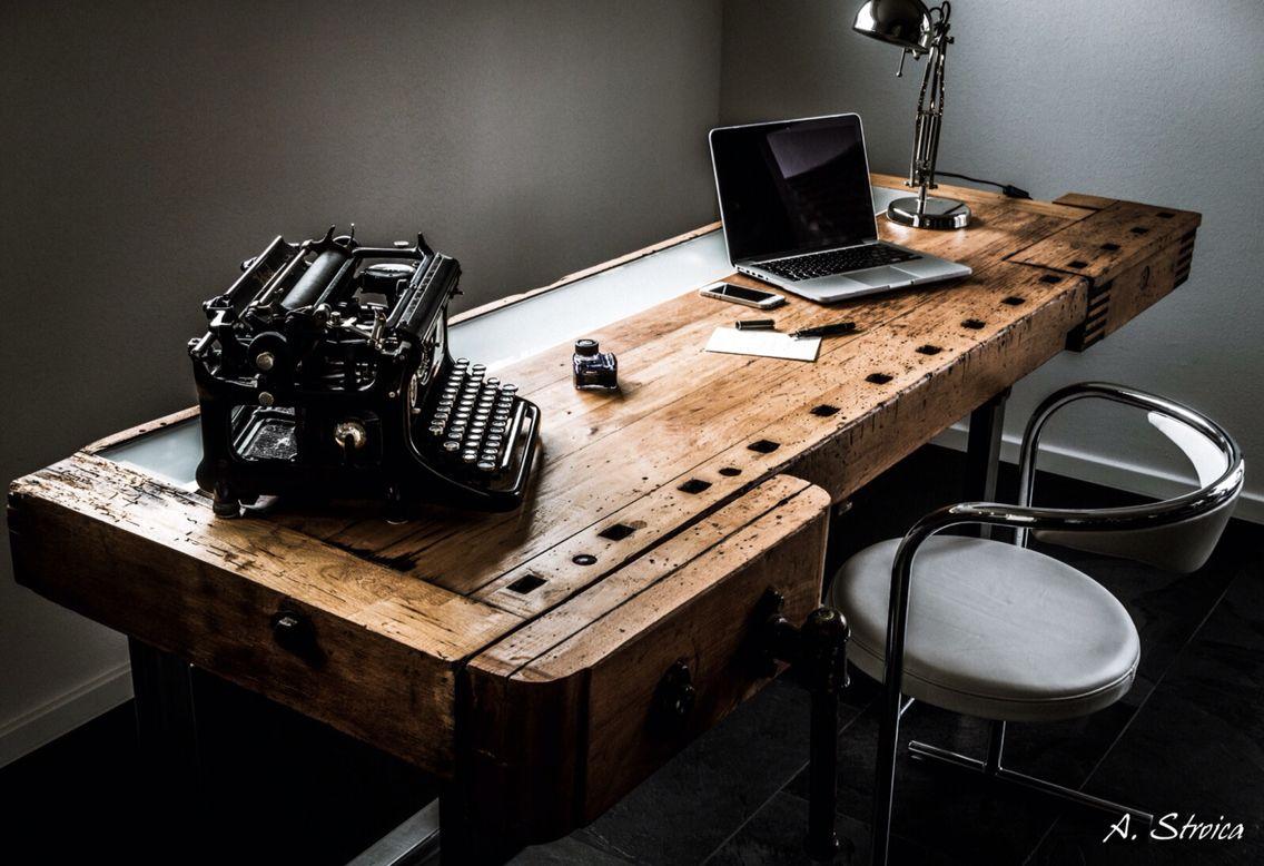 aus einer alten hobelbank habe ich einen schreibtisch. Black Bedroom Furniture Sets. Home Design Ideas
