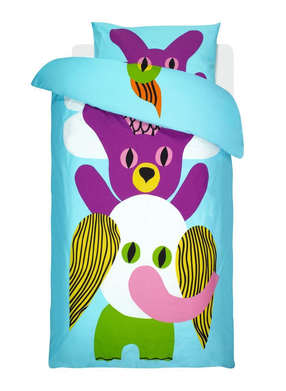 Halihali-pussilakanasetti (v. sininen, vihreä, violetti) |Sisustustuotteet, Lastenhuone | Marimekko