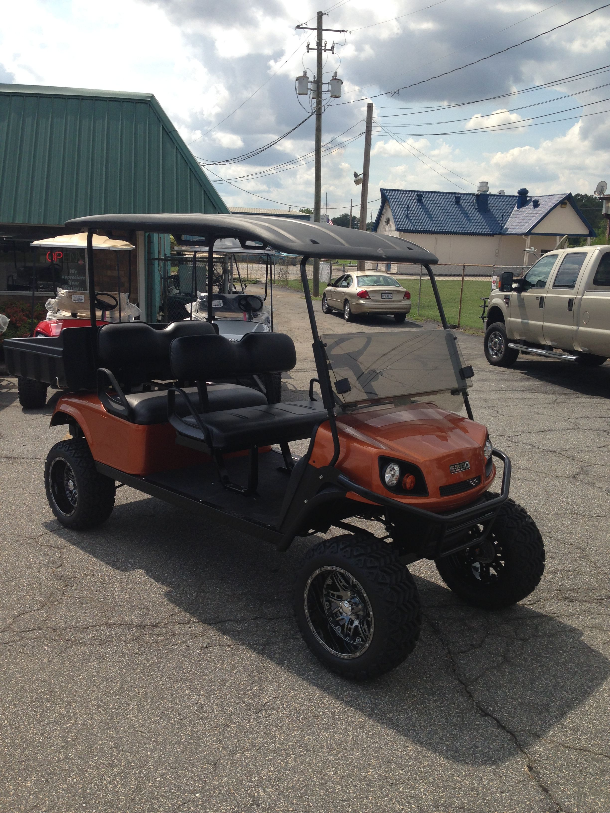 CUSTOM 4-SEATER WITH DUMP BED   EZGO GOLF CARTS   Pinterest   Golf on golf cart classifieds, golf cart library, golf cart events, golf cart safety tips, golf cart security, golf cart sports, golf cart transportation, golf cart history, golf cart parking, golf cart traffic, golf cart schools, golf cart police,