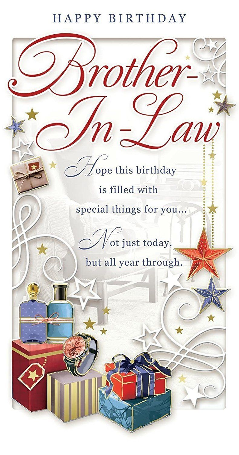 Brother In Law Birthday Card Happy Birthday Watch Presents
