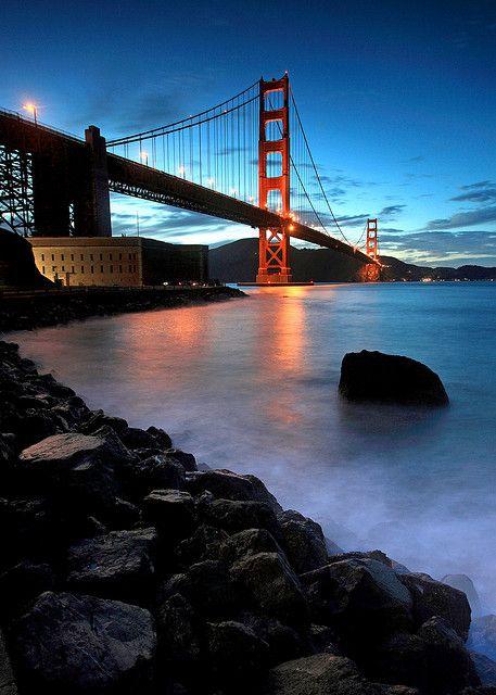 Golden Gate Bridge from Fort Point by Rob Kroenert, via Flickr