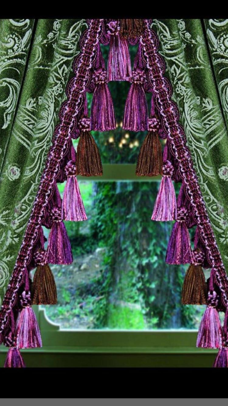 Istanbullugelin Tassel Curtain Fringe Trim Curtain Fringe