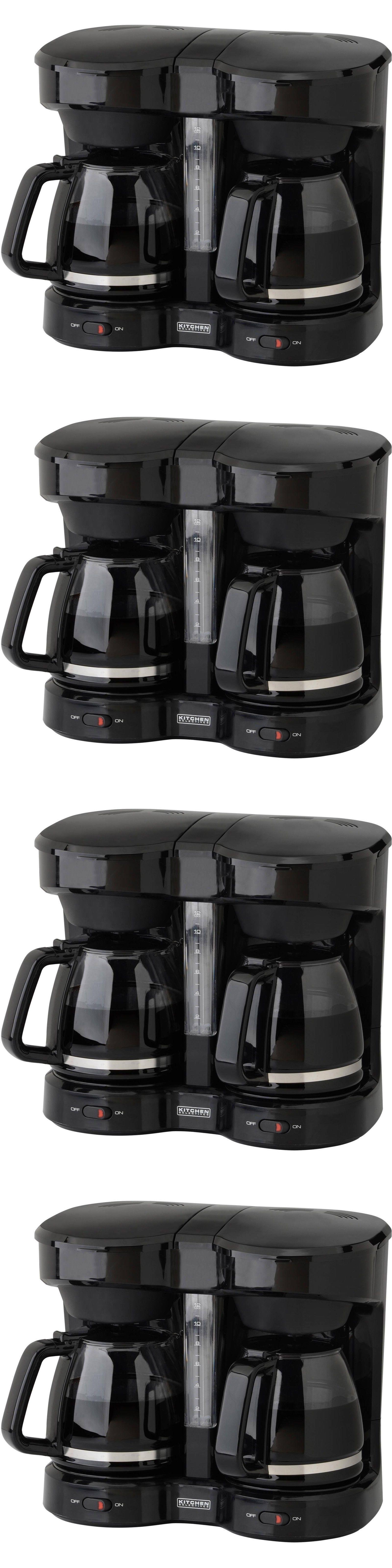 Small Kitchen Appliances Kitchen Selectives Dual Coffee Maker Black