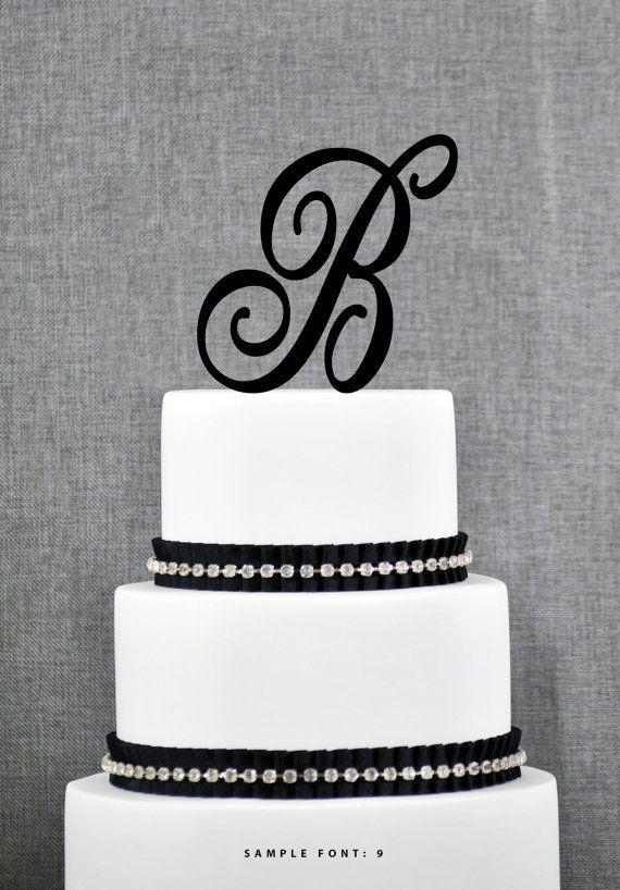 this personalized monogram initial wedding cake topper will give your wedding cake that special touch it has been laser cut from high quality