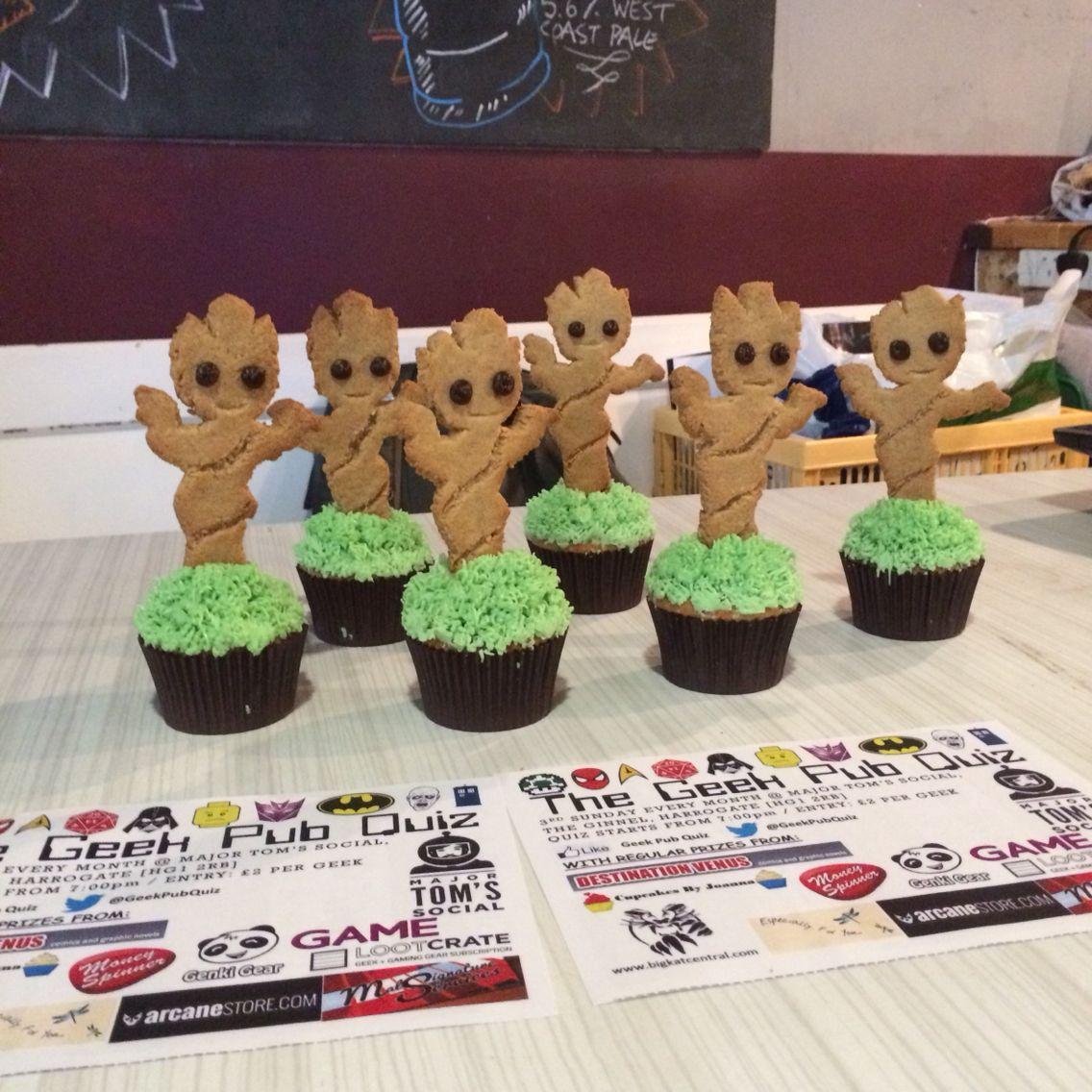 Baby Groot Cupcakes Guardians Of The Galaxy Geekpubquiz