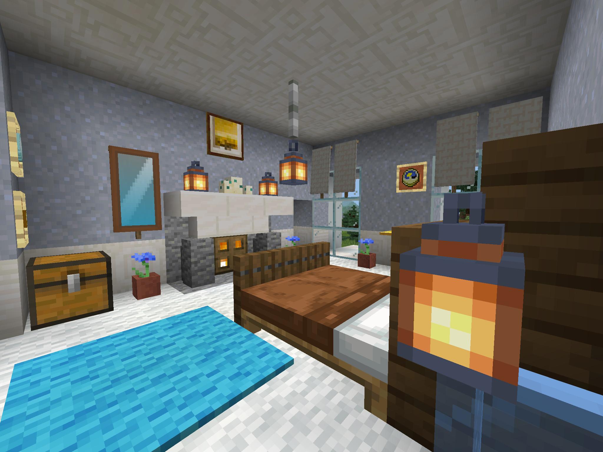 идеи для украшения комнаты в майнкрафт #9