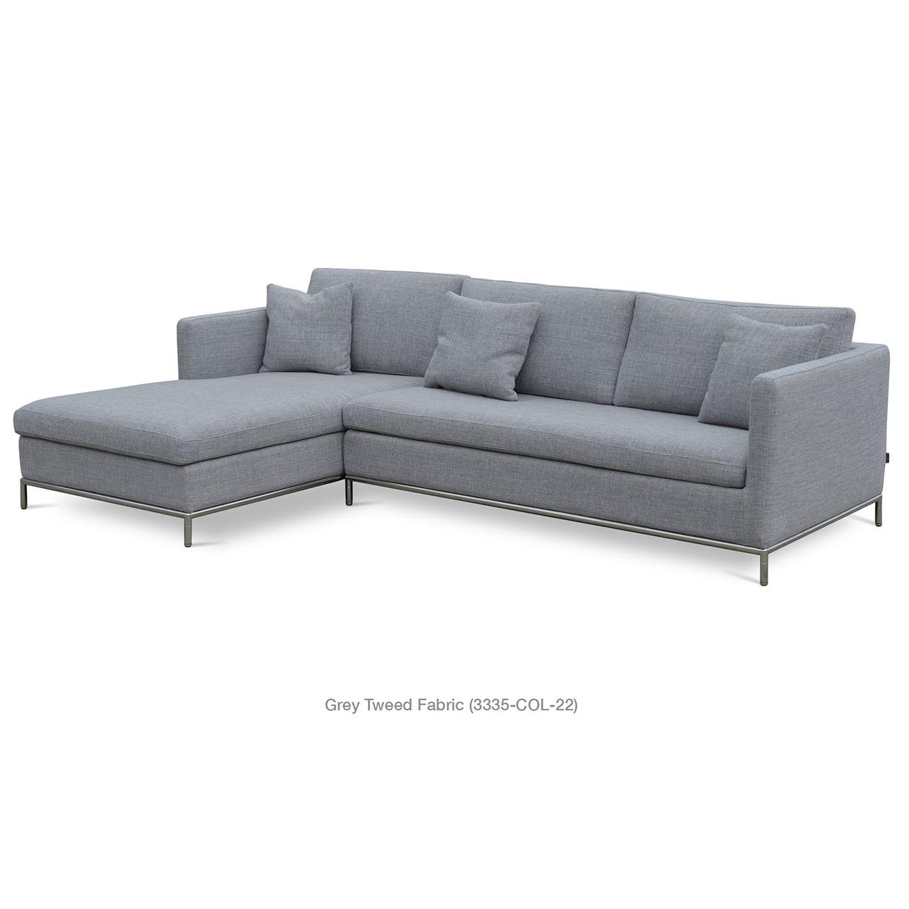 Strange Istanbul Sectional Sofa In Grey Tweed By Sohoconcept Download Free Architecture Designs Scobabritishbridgeorg