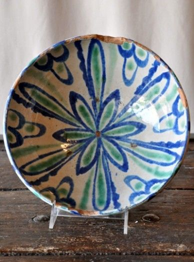 Antique Spanish Ceramic Bowl