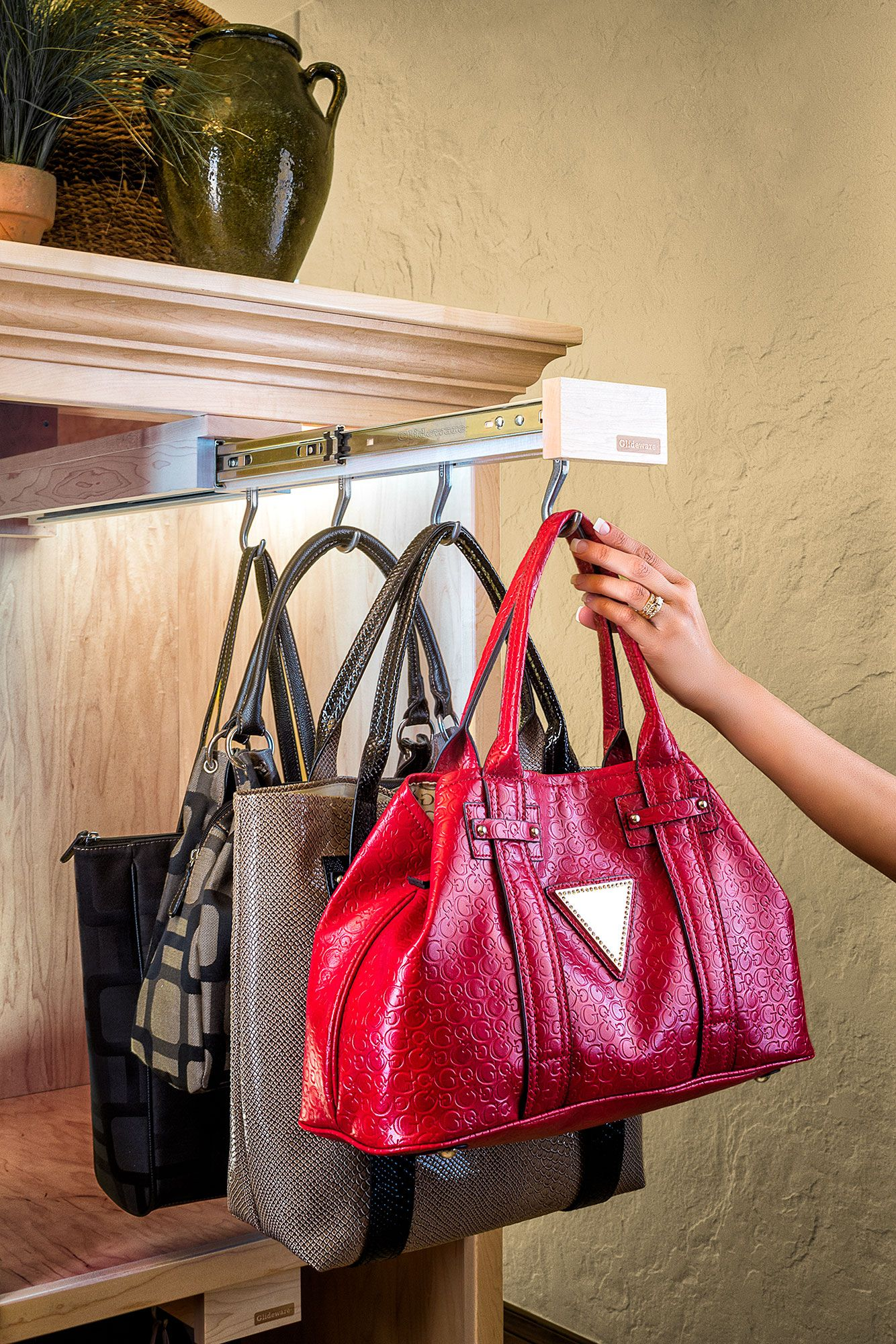 Glideware - Custom Closet Organizers - Handbag Organizer ...