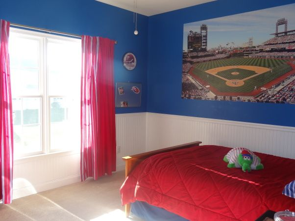 Phillies Phan Bedroom For A 6 Year Old Boy
