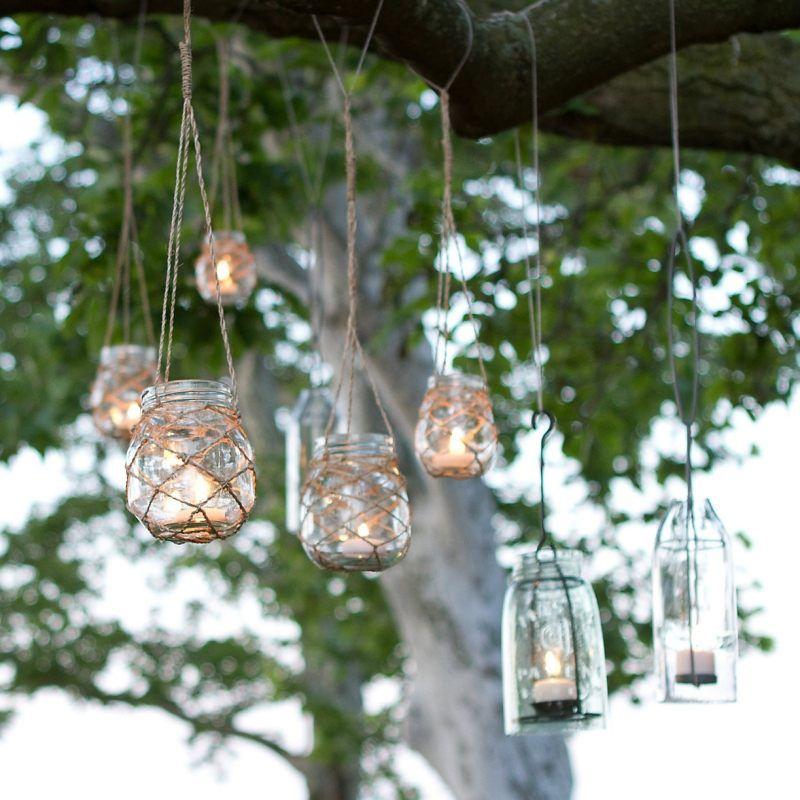 windlichter aus marmeladengl sern selber basteln deko pinterest garten garten deko und lampen. Black Bedroom Furniture Sets. Home Design Ideas