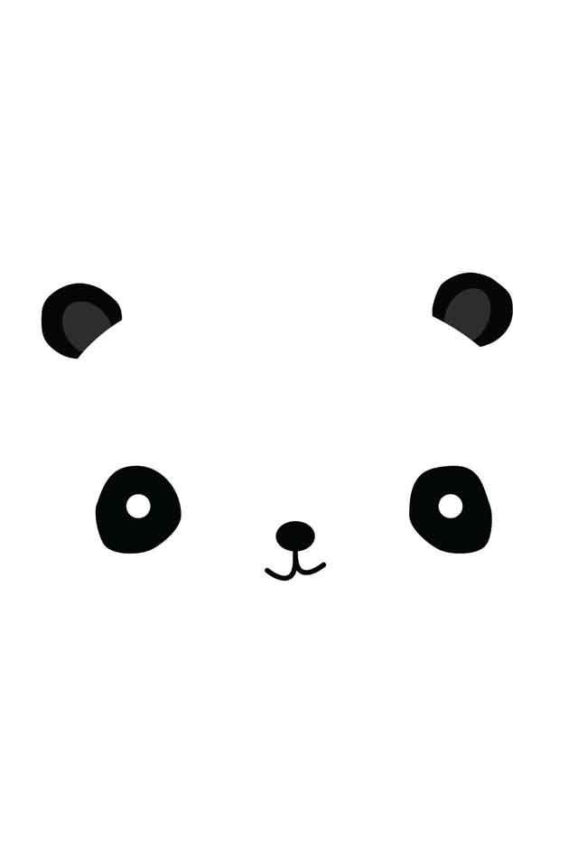 Cute Panda Face Seamless Cartoon Wallpaper Stock Vector 490288384 ...