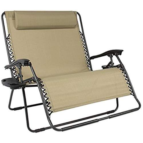 Best Choice Products Folding 2 Person Oversized Zero Gravity