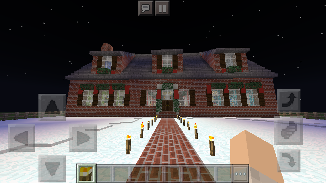 Minecraft Christmas Houses.Colonial Christmas House Minecraft Exterior Design