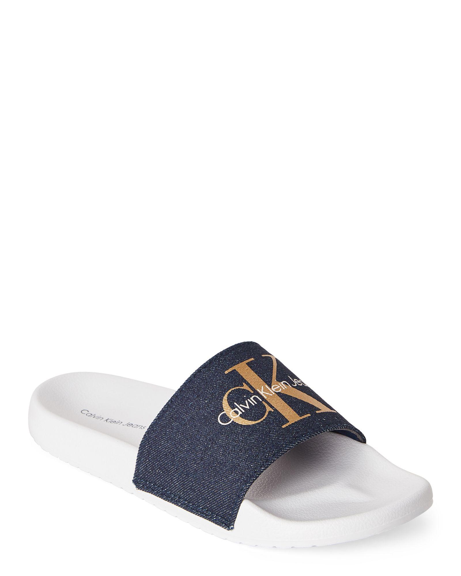 9921ddc625686 Chantal Denim Slide Sandals | *Apparel & Accessories* | Denim slides ...