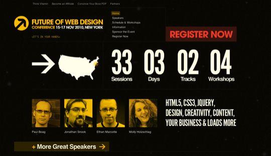 35 Inspiring Design And Development Related Event Websites Web Design Ledger Conference Design Web Design Well Designed Websites