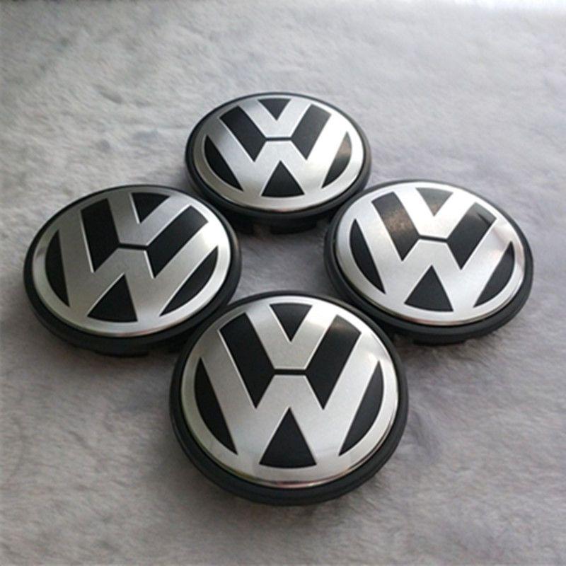 4Pcs Set 60mm Universal Car Alloy Chrome Wheel Center Hub Caps Sticker Sliver
