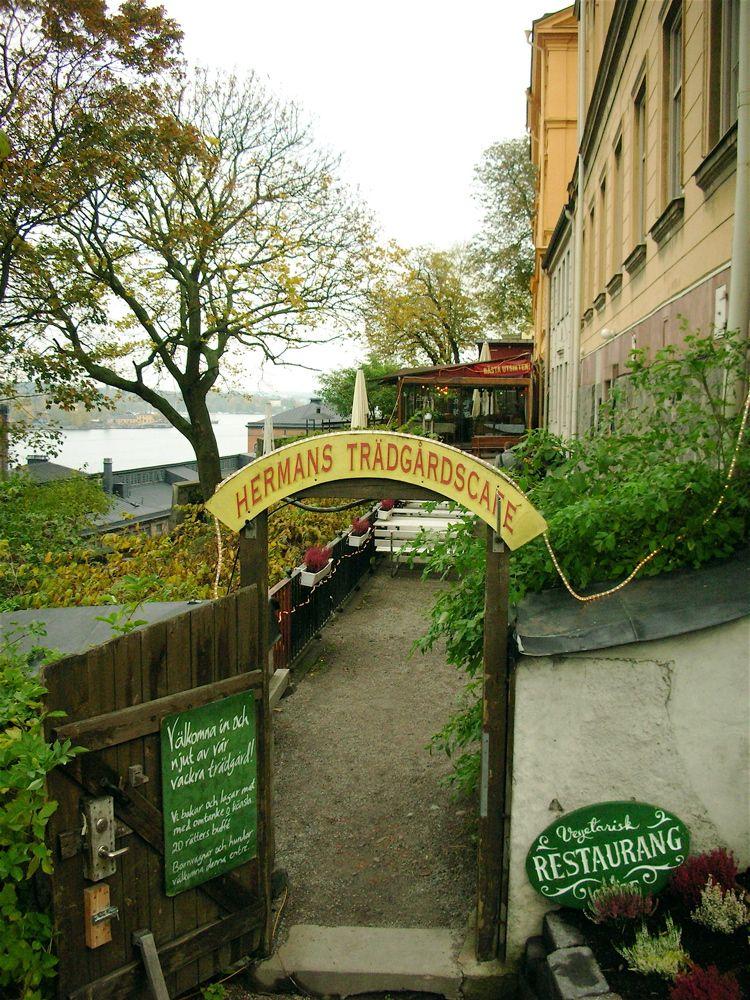 Hermans Vegetarian Restaurant and Garden Café http://www.hermans.se /Fjällgatan 23B 116 28 Stockholm Tel: 08-6439480