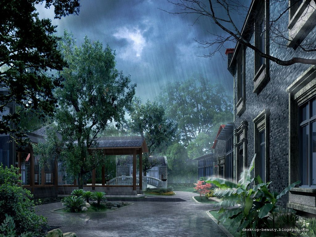 Most Beautiful Rain Wallpapers For Your Desktop Beautiful Nature Wallpaper Rainy Day Wallpaper Landscape Wallpaper
