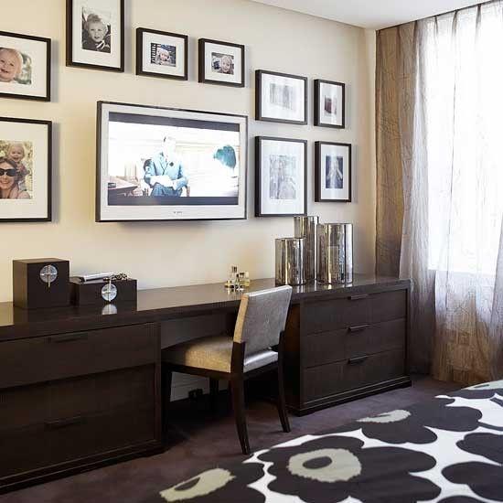 wohnideen arbeitszimmer home office b ro schlafzimmer mit home office zuhause am sch nsten. Black Bedroom Furniture Sets. Home Design Ideas