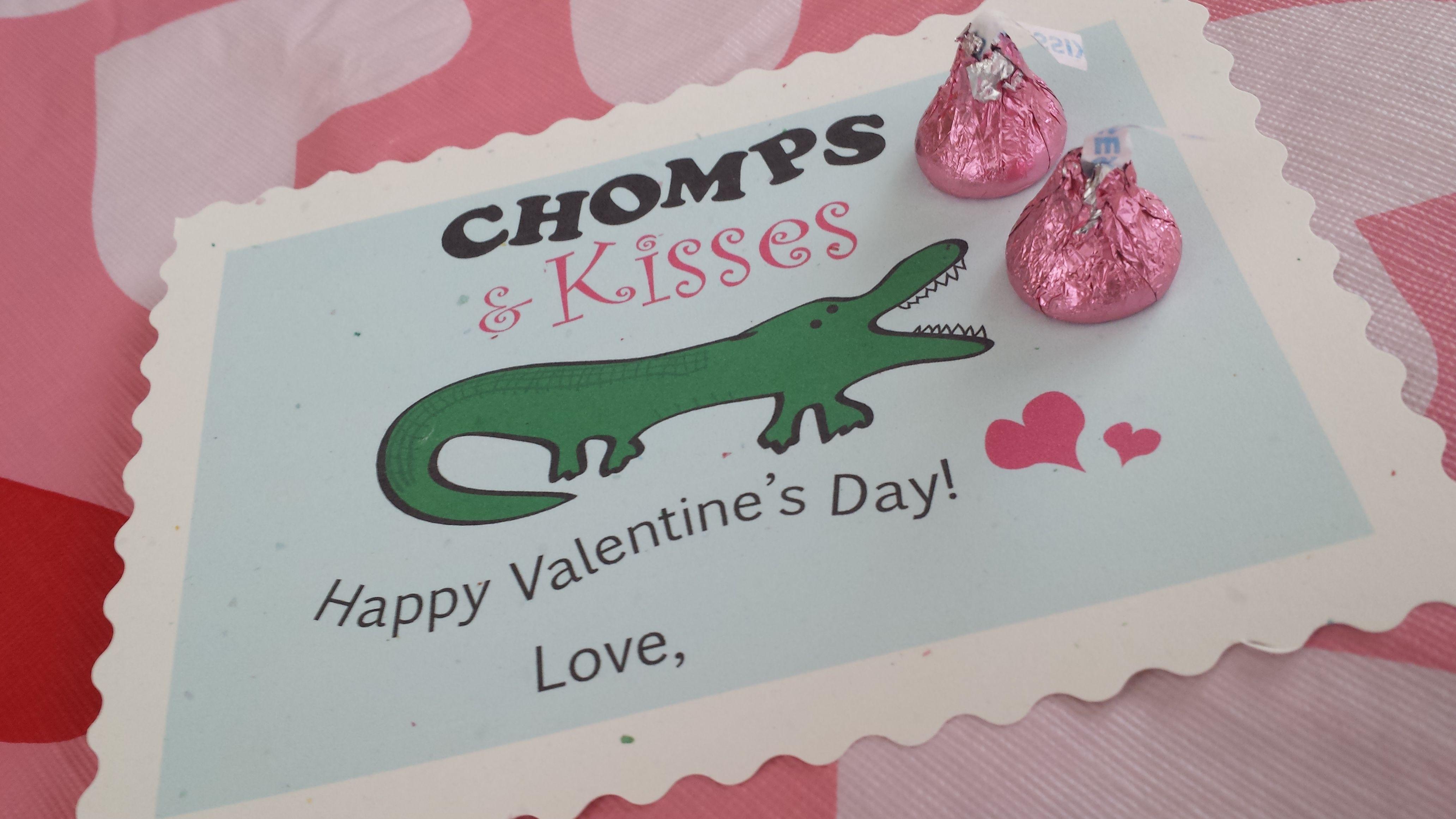 Alligator Valentine S Day Card Free Printable