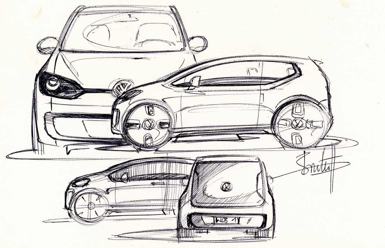 VW Up Concept design sketch | sketch | Pinterest | Skizzen