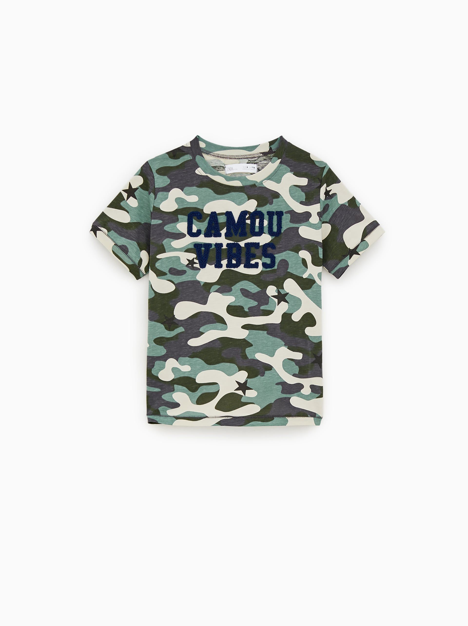 54a454d174 Camouflage and text print shirt | Big Boys Spring 2020 | Printed ...
