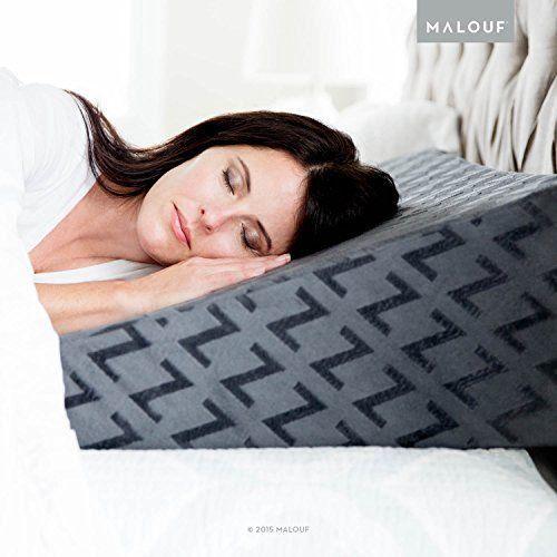 Gel Infused Memory Foam Wedge Pillow Comfort Adjustable