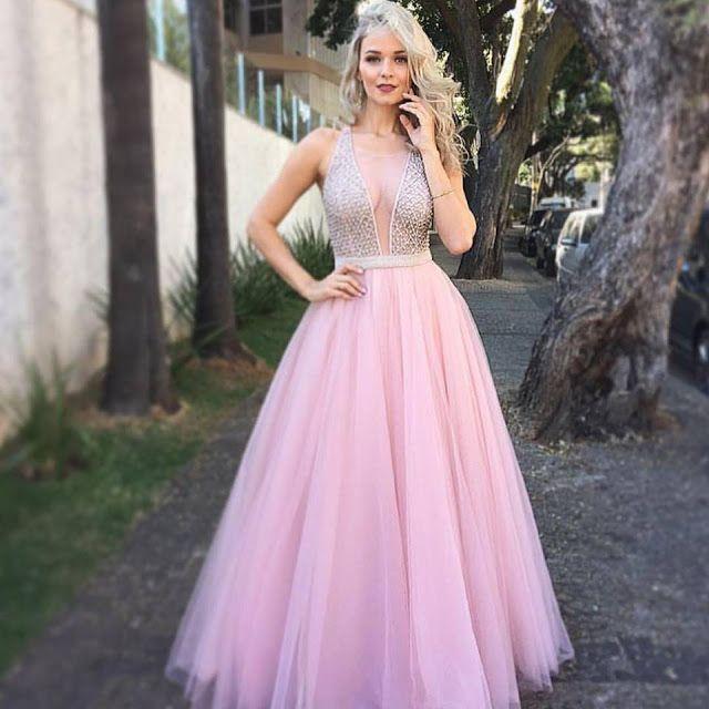 15 VESTIDOS DE FESTA COR DE ROSA   Prom, Costume dress and Vestidos