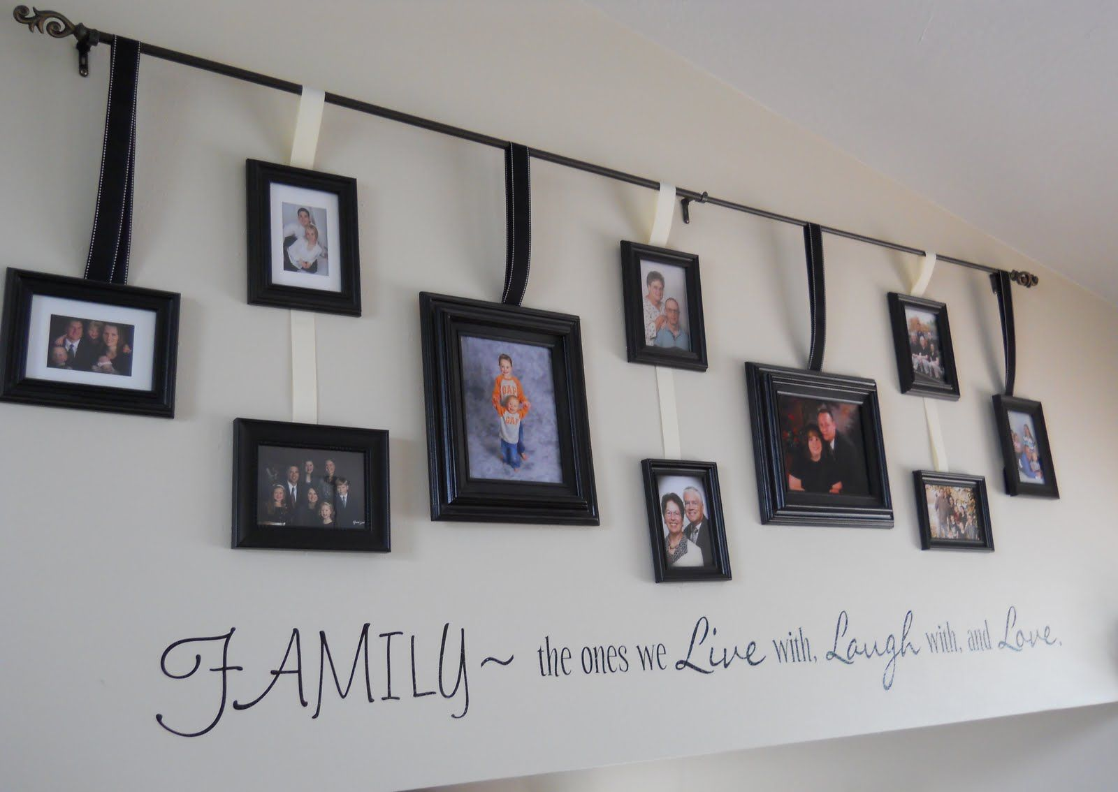 Decorations Awesome Ideas For Hanging Family Pictures And