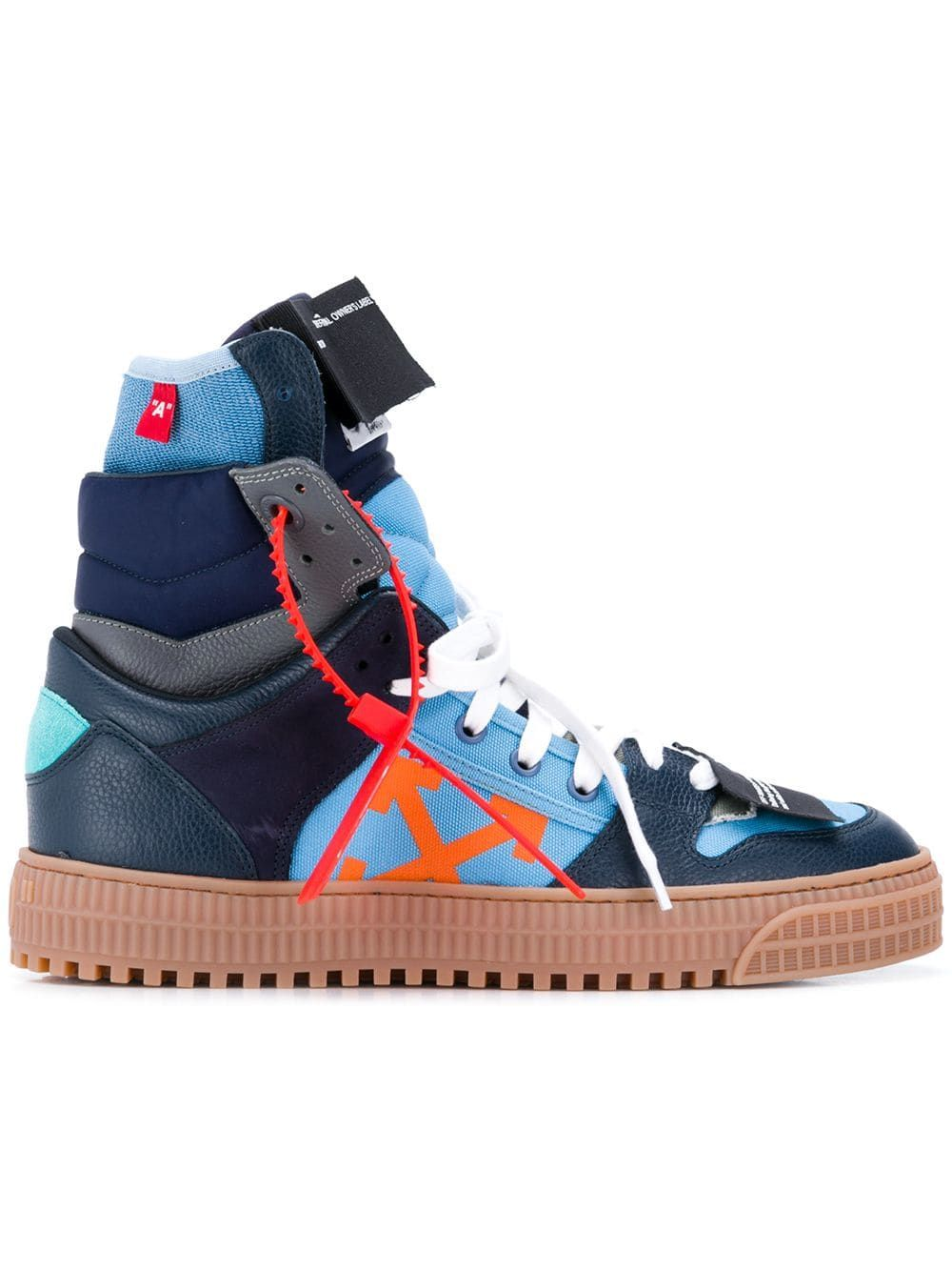 White high top sneakers, Sneakers blue