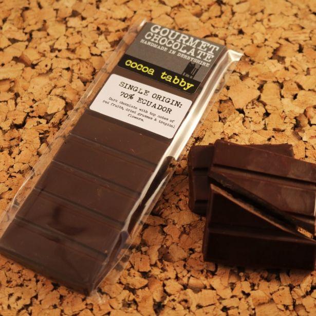 Single Origin Ecuador 70 Cocoa Belgian Chocolate Bar By