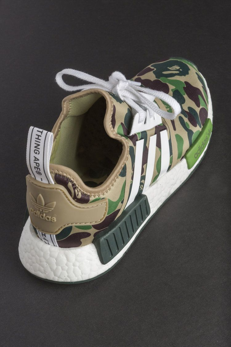 newest 17708 95330 BAPE x ADIDAS NMD R1-DATA PREMIERY-6