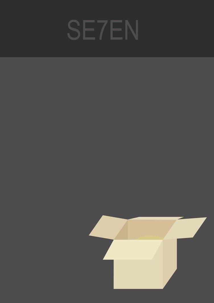 Se7en - minimalistic movie poster