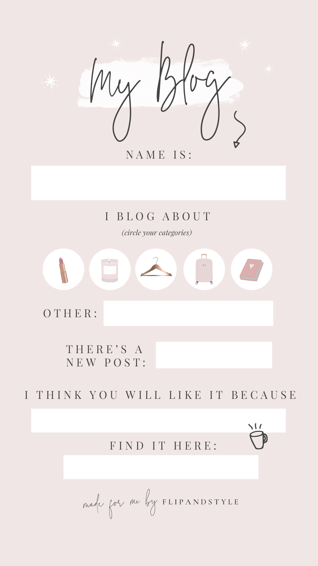 Free Instagram Story Template To Promote Your Blog Instagram