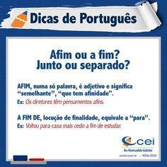 Dica de Português CEI. ;)